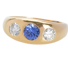 Vintage Diamond Sapphire Ring