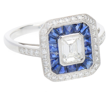 Artistry in Ice - Diamond Sapphire Ring