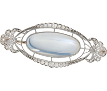 Splendid Edwardian Moonstone Brooch