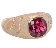 Vintage Rose Gold Garnet Ring