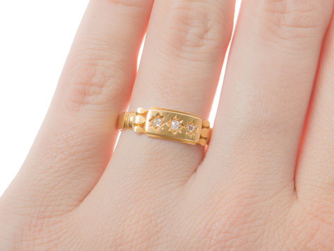 Hallmarked Victorian Diamond Ring of 1892