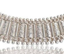 Victorian Era Silver Bookchain Collar