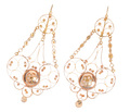 Grand Georgian Rose Gold Pendant Earrings