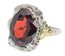 Lush & Large - Garnet & Gold Ring