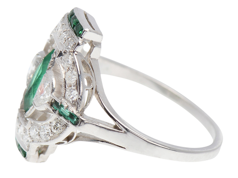 High Society - Emerald Diamond Ring