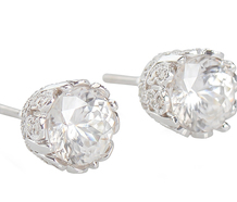 Fancy This - Zircon & Diamond Stud Earrings