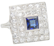 Everything & More Diamond & Sapphire Ring