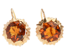 Golden Flower Golden Sun - Citrine Earrings
