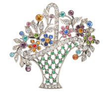 Jewelry as Joy - Colorful Paste Brooch