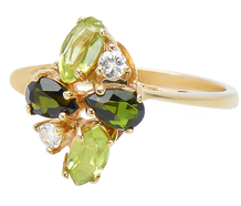 Nature's Lushness - Diamond Gem Ring