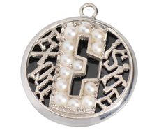 "Exquisite - Pearls & Palladium ""E"" Locket"