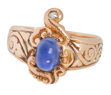 Visions of Maharajas - Sapphire Diamond Ring