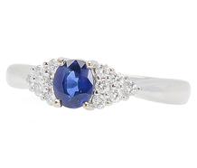 Vivid Sapphire Diamond Ring