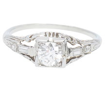 Understated Detail - Art Deco Diamond Ring