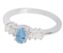 Water & Ice - Aquamarine Diamond Ring