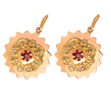 French Taste - Red Paste Gold Earrings
