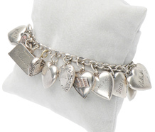 Heart Sounds - Sterling Heart Charm Bracelet