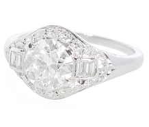 Sophistication - Art Deco 1.43c Diamond Ring