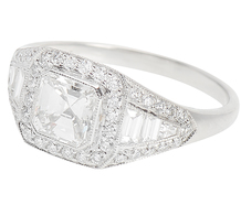 Fantastic Asscher Cut Diamond Ring