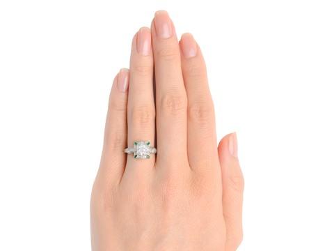 Inspiration - Diamond Emerald Ring