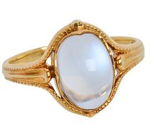 Larter & Sons Art Nouveau Moonstone Ring