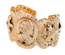 Rare American Gypsy Gold Cuff Bracelet