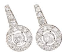 Striking Diamond Halo Earrings
