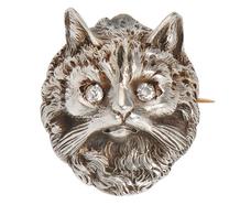 Cat's Meow Art Deco Brooch