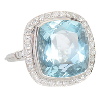 Avenue of Dreams - Aquamarine Diamond Ring