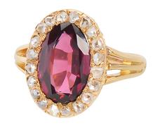 Hue Divine - Luscious Garnet Diamond Ring