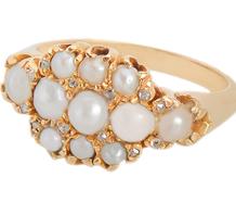 The World's Bounty - Diamond Pearl Ring