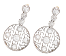 Gossamer Light - Edwardian Diamond Earrings