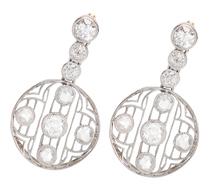Gossamer Light - Edwardian Diamond Earrings