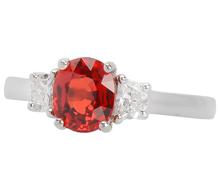 Intensity in an Orange Sapphire Ring