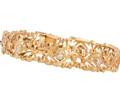 Golden Circlet - Diamond Link Bracelet