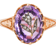 Victorian Carved Amethyst Ring
