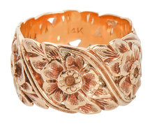 Vintage Spring Flowers in a Gold Band