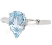 Dew Drop - Aquamarine Diamond Ring