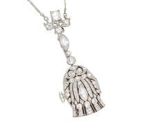 Eternal - Art Deco Diamond Watch Pendant