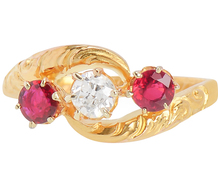 Antique European Ruby Diamond Ring