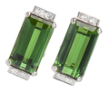 Striking Tourmaline Diamond Earrings