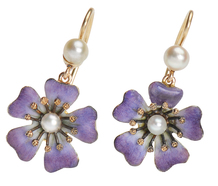 Perfect Purple Petal Flower Earrings