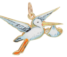 Special Delivery - Stork & Baby Charm