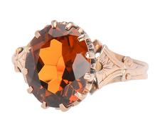 Sunflower - Antique Citrine Ring