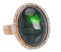 Mermaid's Coat - Black Opal Ring