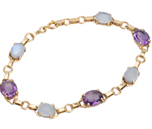 Purple Moon - Amethyst Moonstone Bracelet