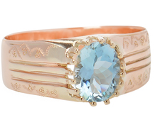 Expanse of Sky in an Aquamarine Ring