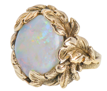 Nature's Realm - White Opal Ring