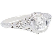 Vintage Femininity - Diamond Solitaire Ring