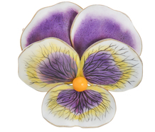 Art Nouveau Pansy Brooch Pendant